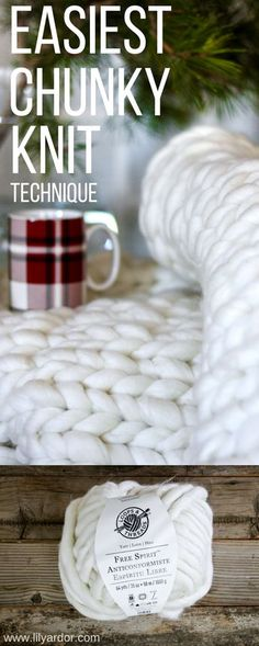 Knit Blanket DIY - Find out how to Chunky knit a Throw Blanket In 3 Easy Steps No knitting needles or experienced needed to make your own chunky knit blanket!No knitting needles or experienced needed to make your own chunky knit blanket! Chunky Knit Yarn, Chunky Knit Throw Blanket, Hand Knit Blanket, Diy Arm Knitting Blanket, Knit Blanket Patterns, Stitch Patterns, Crochet Patterns, Chunky Knitting Patterns, Cable Knit