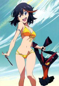 Image uploaded by ❀ 𝑳𝒂𝒌𝒊 ❀. Find images and videos about anime, manga and kill la kill on We Heart It - the app to get lost in what you love. Kill La Kill, Kill Bill, Pin Up Girls, Cute Girls, Bunny Suit, Yellow Bikini, Ecchi, Manga Comics, Kawaii Girl