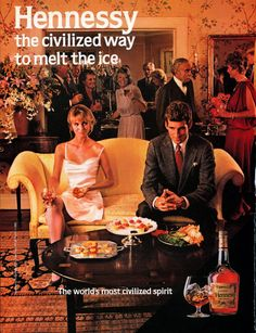 1985 VINTAGE AD Hennessy Civilized Way to Melt by markopostcards