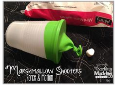 Owl-ways Be Inspired: Marshmallow Shooters {Force & Motion} & a Freebie