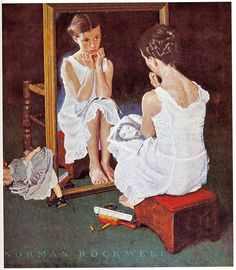 1954 - Girl at the Mirror - by Norman Rockwell