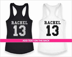 Custom Made Bachelorette Party Shirts by Quteez Bridal Party Shirts, Bachelorette Party Shirts, 21st Birthday Shirts, Bride Tank Tops, Sorority Shirts, Crew Shirt, Black Glitter, Colorful Shirts, Trending Outfits