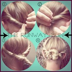 The Runaway Bun from How-to Hair Girl