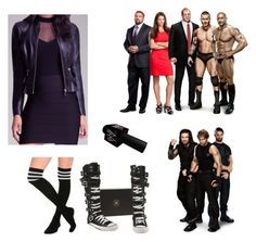 Segment with The Authority and The Shield by punkrockprincess83 on Polyvore featuring Bebe, Converse, Kane and WWE