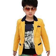 6fe17808e109 GETUBACK Children Boys Polka Dot Blazer Jacket -- Details can be found at