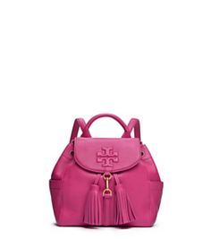 3694a294bff Carnation Red Tory Burch Thea Mini Backpack Backpack Online, Backpack Purse,  Fashion Backpack,