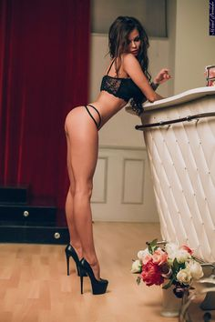 The bar was only accessible to the petite princess wearing her sky high platform pumps