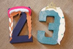 Frozen Party Decorations - Elsa and Anna Birthday Number or Letter Set