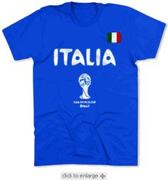 FIFA Italia T-shirt $19.95 For more go here http://streetlegaltshirts.com/ #T #Shirts #tshirt #t-shirt  #Tees