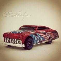 "Happy July 4th! Purple Passion - 2004 Hot Wheels ""Star Spangled 2"" series #hotwheels   #toys   #Mercury   #july4th"