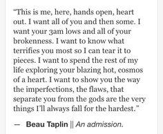 Beau Taplin | An admission ♥