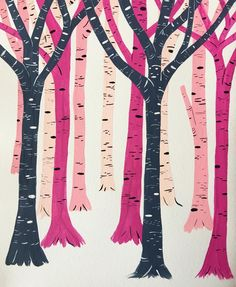 Doodle 48. If a tree turns pink in the forest, and no one is there to see it, is it still pink? #365anniedoodles