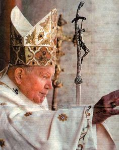 Pope John Paul II.  I was so lucky to see him before he passed and receive a blessing!