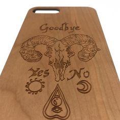 Ouija Board Skull Wood Wooden iPhone 7 6 5 Plus Case Samsung Galaxy S7 | jiacase