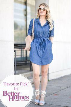 your Perfect Chambray Shirt Dress • UPF 50+