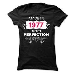 [ Bargain ] Made in 1977 Aged To Perfection t-shirt [ order now ] => Off SunFrog Shirts Coupon, Promo Codes, [ Bargain ] Made in 1977 Aged To Perfection t-shirt [ order now ] - T-shirt, Hoodie, Sweatshirt Frog T Shirts, Tee Shirts, Tees, Online Tshirt Design, Custom Birthday Shirts, Wholesale T Shirts, Shirt Template, Vogue, Aged To Perfection