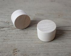 Set of 2 Tiny Wooden Ring Boxes / Wedding Ring Box / by NeliStudio