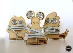 MONSTERS by Finito Lab , via Behance << laser cut earbud holders…
