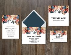 Wedding Invitation Suite Digital & Instant Download by Aticnomar