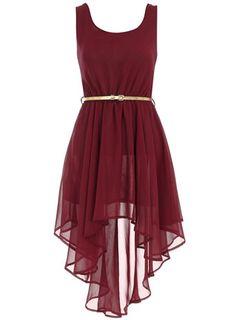 "Aysmmetric wine dress. I""m thinking a dress like this for @Ursula Welker Doyle's wedding!"