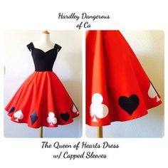 The Queen of Hearts Dress Sexy ROCKABILLY by MoonbootStudios