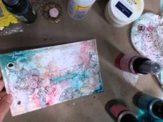 Lindy's Stamp Gang Mixed Media Canvas...try to watch this later, it's a long one!