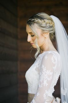 Side-braided bun: http://www.stylemepretty.com/california-weddings/aptos/2015/08/31/rustic-elegant-outdoor-wedding-at-devine-ranch/ | Photography: Bluella - http://bluella.com/