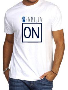 Camiseta hombre manga corta MODO FAMILIA ON en azules de DECHARCOENCHARCO en Etsy