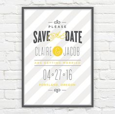 Save the Date Announcements  Save The Date by jambercreative, $56.25