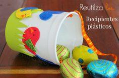 Cestas con tarros plásticos reutilizados | Blog de BabyCenter