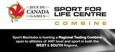 Sport Manitoba Hosting Regional Youth Testing Combine in Winkler & Brandon on Sep 9-10   Sport Manitoba has announced it will be hosting our first Regional Youth Testing Combine in Winkler and Brandon on September 9 and 10 2016. This is a Combine we will be running twice a year so that athletes and coaches can get their pre-season and mid/end of season testing done in a one-shop-stop.  REGISTRATION FORM  WHO: The Combine will be open to West and Parkland athletes of any sport and any level…