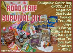 This kit is packed full of everything you need to survive a long road trip!