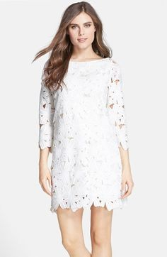$128, Nordstrom Felicity Coco Floral Lace Shift Dress. Sold by Nordstrom. Click for more info: https://lookastic.com/women/shop_items/239255/redirect