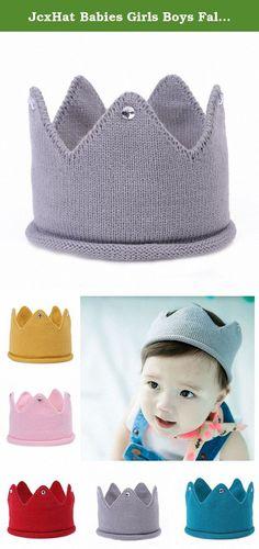b3ab01028af JcxHat Babies Girls Boys Fall Winter Diamond Crown Crochet Chunky Beanies  Knit Hat. Unisex Hat