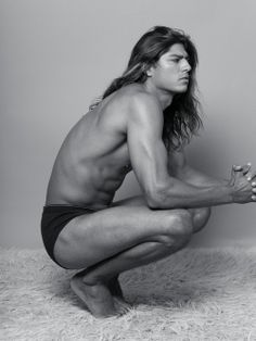 I don't usually like long hair on my men but Tarzan here can rescue me any day!! #yum!