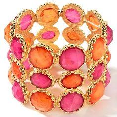 "gorgeous!  rj graziano ""bright idea"" stretch bracelet $40 from hsn.com"