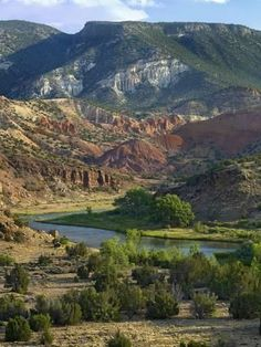 size: Photographic Print: Rio Chama Near Abiquiu, New Mexico, Usa by Tim Fitzharris : New Mexico Usa, Abiquiu New Mexico, Travel New Mexico, Southwest Usa, Southwestern Art, Scenery Pictures, Beach Landscape, Landscape Photos, Landscape Paintings