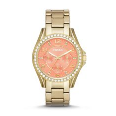Fossil Riley Multifunction Stainless Steel Watch – Gold-Tone| FOSSIL® Watches