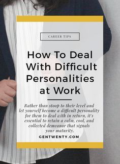 No matter where you work or how much you love your job chances are theres at least one person with a difficult personality that's hard to get along with. Working With Difficult People, Difficult People Quotes, Environment Quotes, Office Environment, Difficult Conversations, Work Life Balance, Career Advice, Career Help, A Team