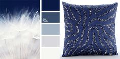 Monochrome dark blue color palette reminds of mystery of the night sky before a thunderstorm. Transition from deep dark blue to pure white is contrast and at the same time softened with pastel shades of blue. Perfect color for the interior of a bedroom or guest room.