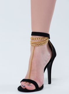 Chain Reaction Ankle Bracelet GOLD - GoJane.com