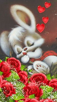 Love Images, Images Gif, Easter Pictures, Cute Pictures, Cartoon Clip, Sweet Night, Easter Art, Bunny Art, Drawing Skills