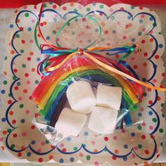 Rainbow Party Inspired by Elf on the Shelf Birthday Tradition | CatchMyParty.com
