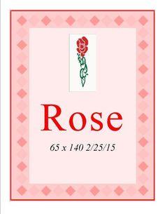 (4) Name: 'Crocheting : Rose