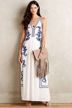 Aska Embroidered Maxi Dress