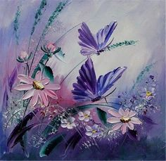 Top Fashion Special Offer Flower And Butterfly Diy Diamond Painting Embroidery Cross stitch Full Rhinestone Stick Mosaic Crafts Butterfly Painting, Butterfly Art, Flower Art, Purple Butterfly, Butterflies, Art Floral, Art Papillon, Mosaic Crafts, Cross Paintings