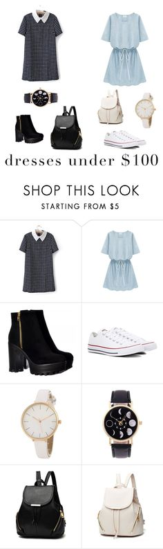 """Dresses under $100"" by extraordinharry-24 ❤ liked on Polyvore featuring Converse"