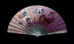 Fan: Empress Dowager Maria Feodorovna was an excellent painter and often adorned her letters to her husband and sons with elegant designs. She created a lot of paintings, designed her fans. Hand Held Fan, Hand Fans, Antique Fans, Vintage Fans, Christian Ix, Maria Feodorovna, Russian Art, Pansies, Vintage Accessories