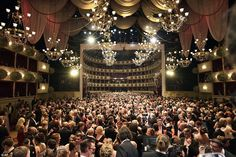 Vienna's Opera Ball Busy: After the opening ceremony, guests crowded the glamorous venue, mingling with their fellow attendees and greeting the debutantes