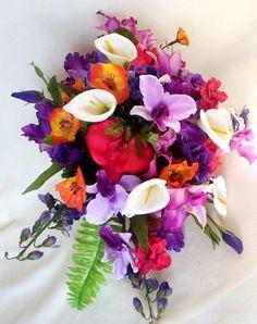 Tropical Bridal Bouquets 11 Piece Package